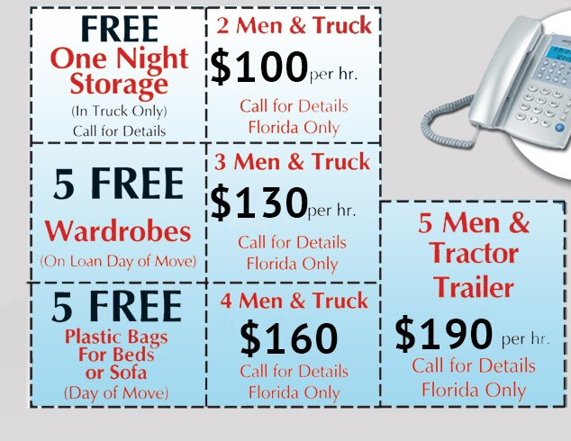 Weston Professional Movers - VIP Coupons